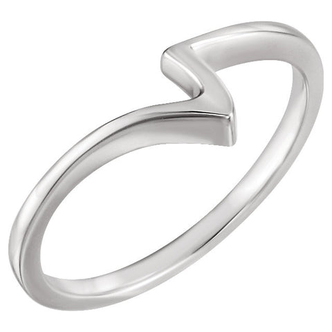 14k White Gold Band, Size 7