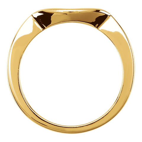 14k Yellow Gold 4.4mm Band, Size 6