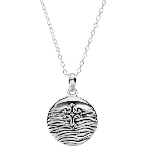 Water Baptism Necklace for Kids with 14-inch Chain in Sterling Silver