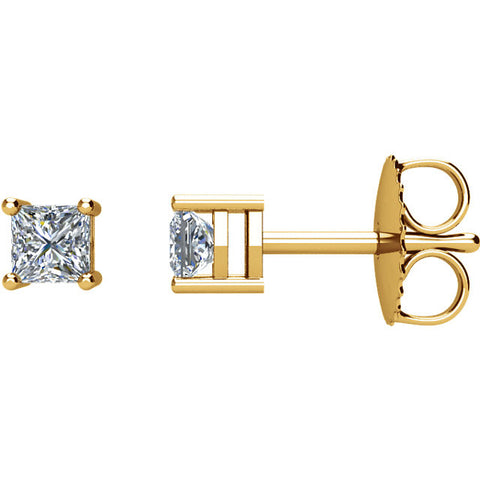 14k Yellow Gold 1/3 CTW Diamond Earrings