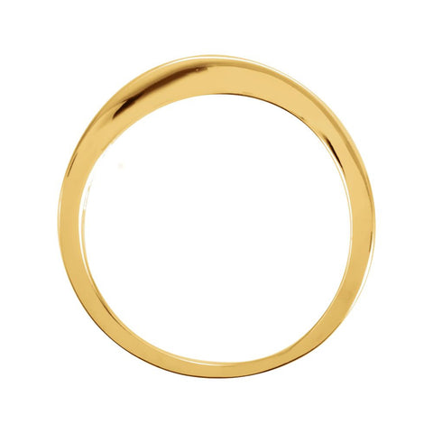 14k Yellow Gold Stackable Ring, Size 6