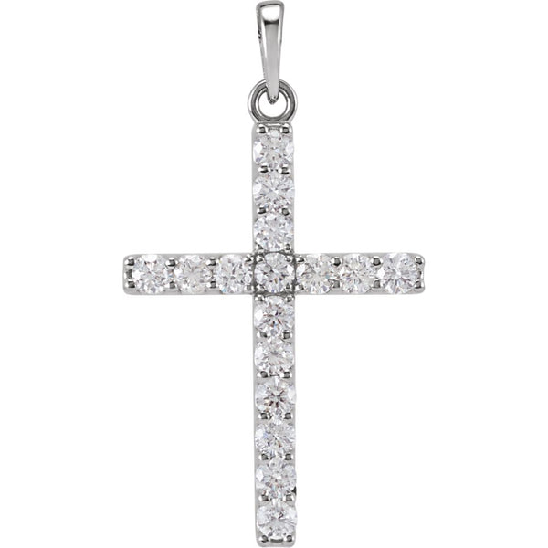 3/4 CTW Diamond Cross Pendant in Platinum