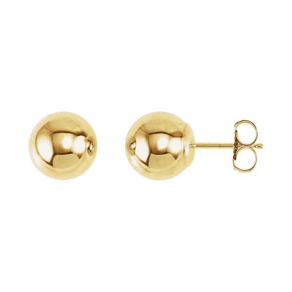 14k Yellow Gold 7mm Ball Earrings