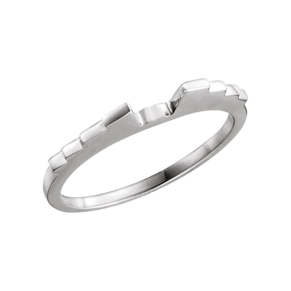 18k White Gold Band , Size 7