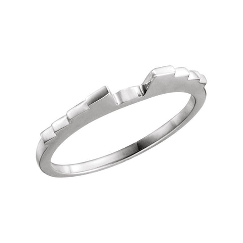 Wedding Band Ring for 1.25 CTTW Engagement Ring in 18k White Gold (Size 6 )