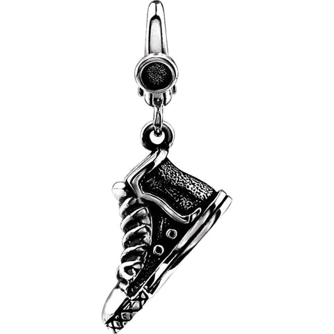 Sterling Silver High Top Sneaker Charm