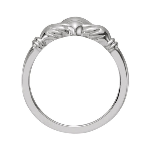 Sterling Silver Youth Claddagh Ring, Size 5