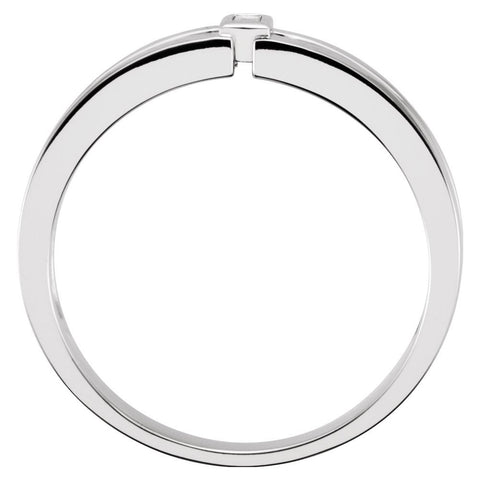 14k White Gold 4.85mm .05 CTW Diamond Men's Band, Size 11
