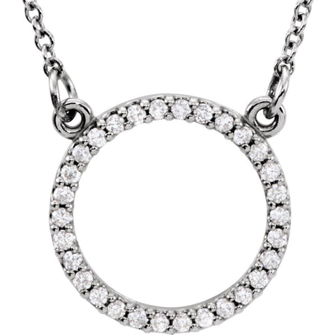 14k White Gold 1/6 ctw. Diamond 16-inch Necklace