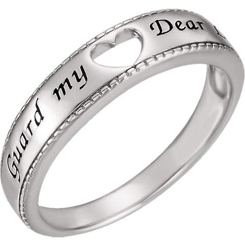 Guard My Heart Ring with Packaging in Sterling Silver ( Size 8 )