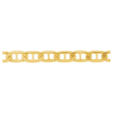 "14k Yellow Gold 3.5mm Solid Anchor 24"" Chain"