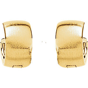 14k White Gold 11.5mm Hinged Earrings