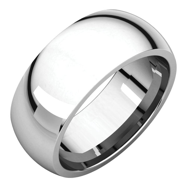 Sterling Silver 8mm Comfort Fit Band, Size 10