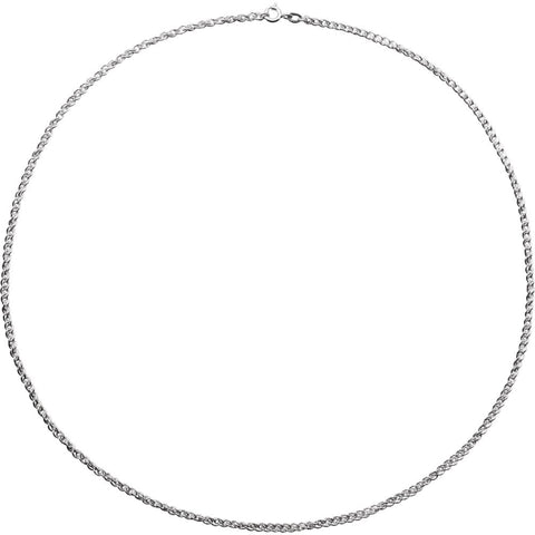 "Sterling Silver 2mm 18"" Rope Chain with Spring Ring"