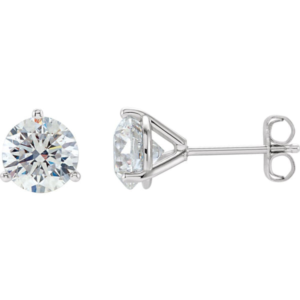 14k White Gold 2 CTW Diamond Stud Earrings