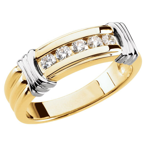 14K Yellow & White 1/2 CTW Diamond Ring, Size 11