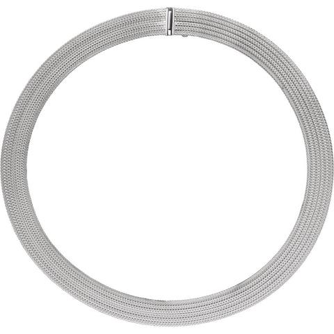12 mm Flat Foxtail Mesh Chain in Sterling Silver ( 17 Inch )