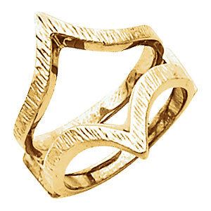 14k Yellow Gold Ring Guard , Size 6