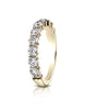 Benchmark-14k-Yellow-Gold-3mm-high-polish-Shared-Prong-9-Stone-Diamond-Ring--0.99Ct.--Size-4--553502214KY04