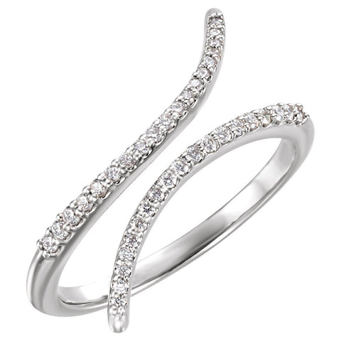 Platinum 1/6 CTW Diamond Ring, Size 6