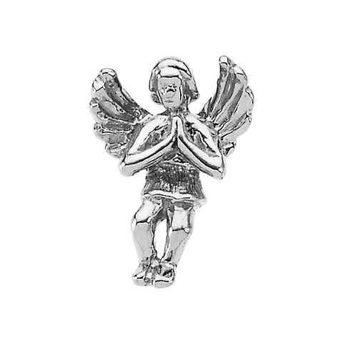12.00x09.00 mm Praying Angel Lapel Pin in Sterling Silver