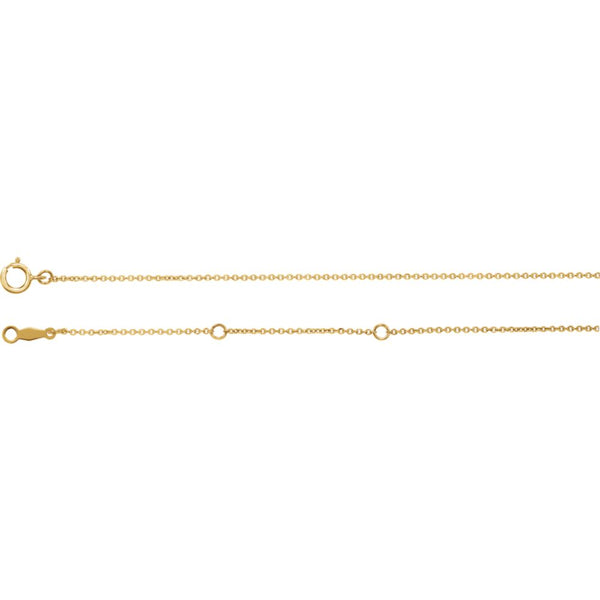 "Yellow Gold Filled 1mm Solid Cable 30"" Chain"
