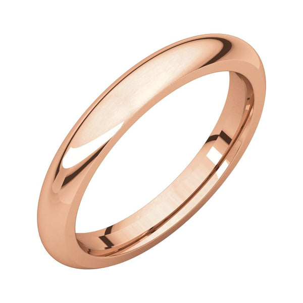 10k Rose Gold 5mm Comfort Fit Band, Size 10