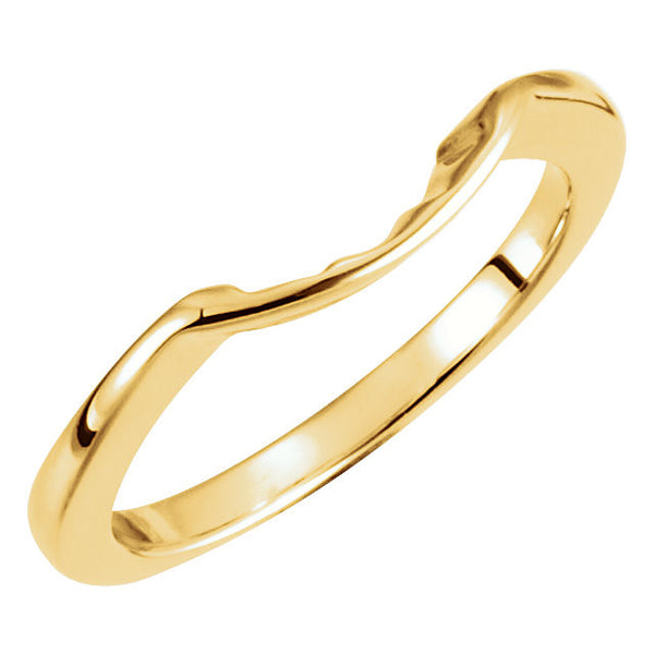 14k Yellow Gold 7.4mm Band, Size 6
