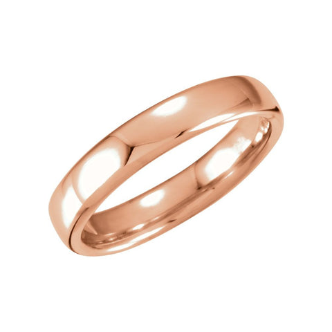 14k Rose Gold 4.5mm Euro-Style Light Comfort-Fit Wedding Band Size 6