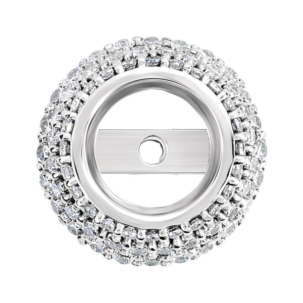 14k White Gold .31 CTW Diamond Pre-set Halo-Style Trim