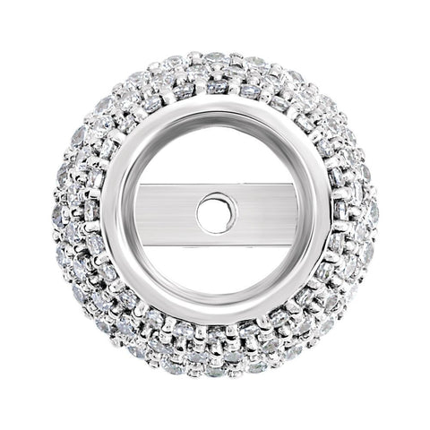 14K White Gold 0.31 CTW Diamond Halo-Styled Trim