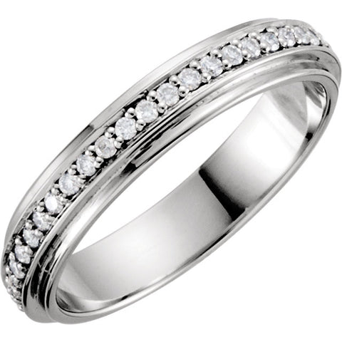 Platinum Eternity 1/3 CTW Diamond Duo Band Size 7