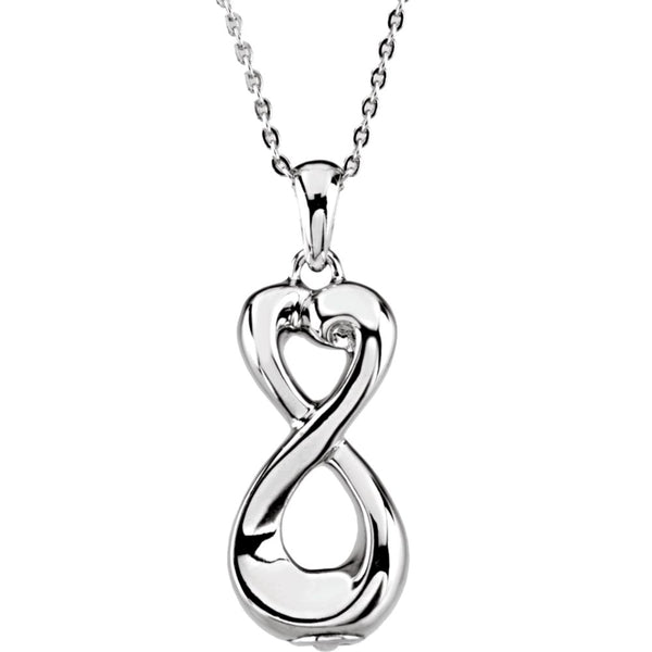 Sterling Silver Infinite Love Ash Holder 18