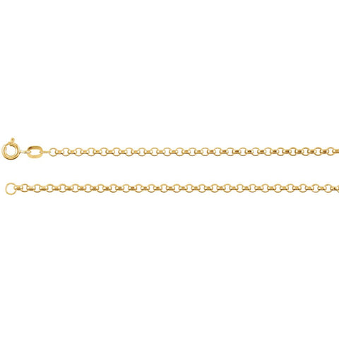 2 mm Rolo Chain in 14k Yellow Gold ( 16 Inch )