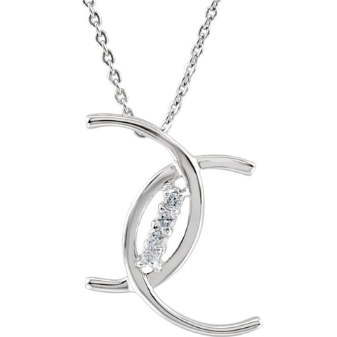 4 Cs of Purity Necklace in Sterling Silver