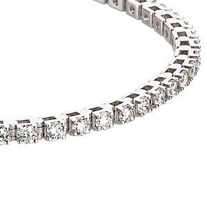 14k White Gold 3 3/8 CTW Diamond Line Bracelet
