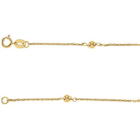 Kid's Gold Bead Station Bracelet in 14k Yellow Gold ( 6.00-Inch )
