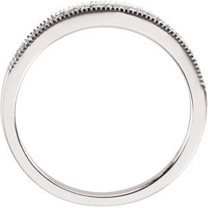 14k White Gold 1/10 CTW Diamond Band, Size 6