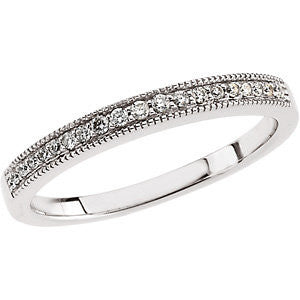 1/8 CTTW Diamond Wedding Band for Matching Engagement Ring in Platinum ( Size 6 )