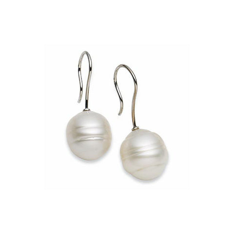 18k Palladium White Gold South Sea Cultured Pearl Earrings