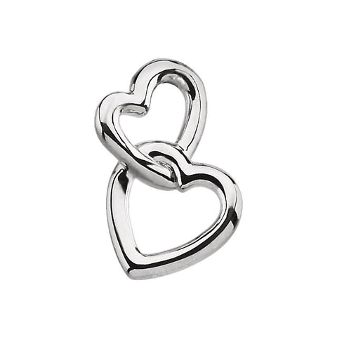 Platinum Double Heart Pendant
