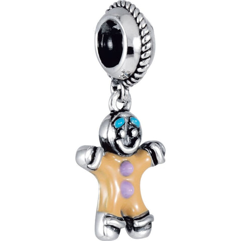 Sterling Silver 15.2x11mm Kera Gingerbread Charm