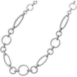 1 1/2 CTTW Diamond Necklace in 14k White Gold