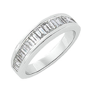Platinum 1 1/2 CTW Diamond Anniversary Band, Size 6