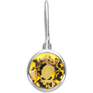 Sterling Silver November Birthstone 12.5x5.75mm Hook Charm/Pendant