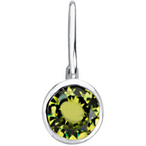 Sterling Silver August Birthstone 12.5x5.75mm Hook Charm/Pendant