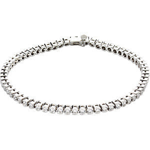"14k White Gold 3 CTW Diamond Line 7.25"" Bracelet"