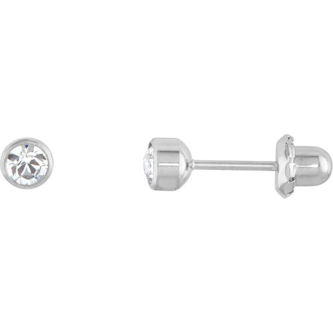 Crystal Inverness Piercing Bezel Earrings