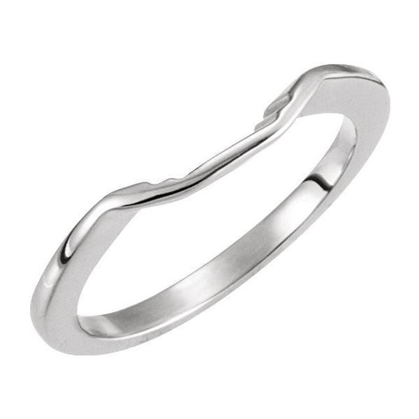 18k White Gold Band, Size 6