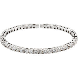 14k White Gold Diamond Line Bracelet
